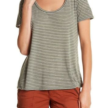 Melrose and Market | Striped Tie Back Tee | Nordstrom Rack