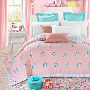 yummy ice cream air-condition quilt 150*200cm 200*230cm size quilted thin bedding  Blanket/ Plaids