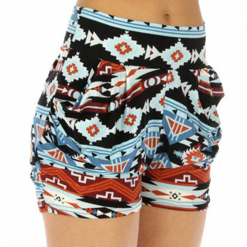 Tribal Harem Shorts. Brilliant Colorful Harem Shorts