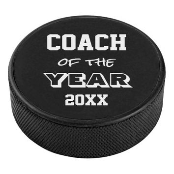 Coach of the Year Hockey Puck