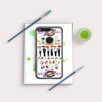 FRIENDS Collage Drawing Google Pixel XL Case Planetscase.com