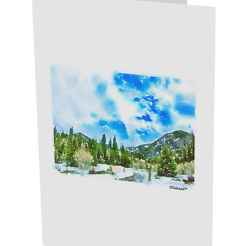 "El Dora CO Watercolor 10 Pack of 5x7"" Side Fold Blank Greeting Cards"
