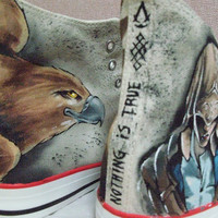 Connor Assassin's Creed3 Converse Shoes Painting Made by iamknight