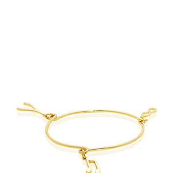 Kate Spade Friendship Well Wishes Charm Bangle Clear/Gold ONE