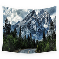 Society6 Mountain Road Wall Tapestry