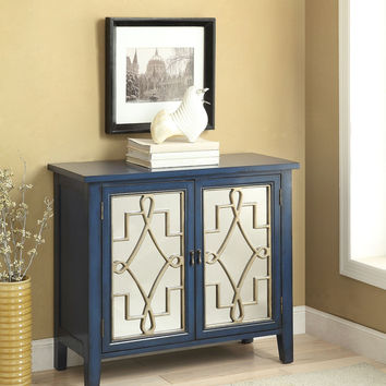 Kacia Antique Dark Blue Console Table 90182
