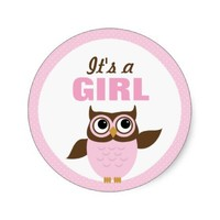 Cute Owl It's a girl Stickers