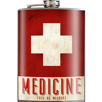 Trixie and Milo Medicine Stainless Steel Flask