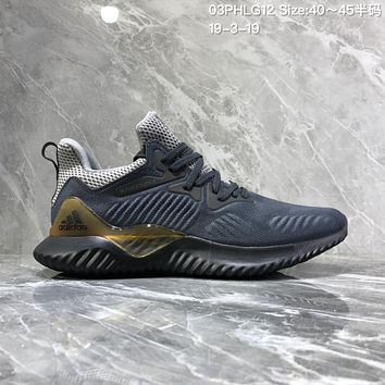 separation shoes 9d4e7 49108 DCCK2 A927 Adidas Alphabounce Em M Breathable cushioning running. A927  Adidas Alphabounce Em M Breathable cushioning running shoes Gray Gold