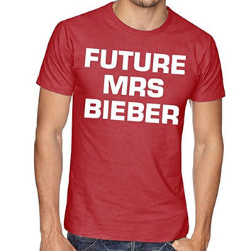 FUTURE MRS JUSTIN BIEBER BELIEBER WOMEN UNISEX T SHIRT TOP TEE NEW - Maroon