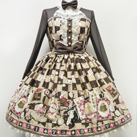 Magical Night Theater One Piece - Brown [142PO10-3666-br] - $281.00 : Angelic Pretty USA