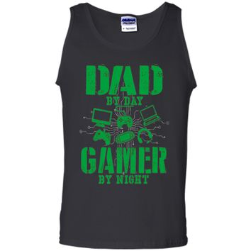 Funny Fathers Day Shirt Dad By Day Gamer By Night Video Game