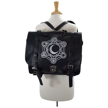 Restyle Gypsy Gothic Dark Magic Witchcraft Moon Messenger Expandable 3 Way Bag