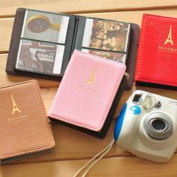 New Arrival PVC Leather Pylon fujifilm Instax Mini Polaroid Photo Camera Album Holds 64 Polaroid Photos Mini Album