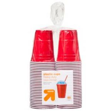 Red Disposable Plastic Cups - 18 oz - 60 Count - up & up™