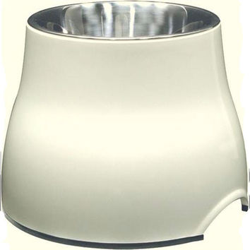 Elevated 2 in 1 Dog Bowl White 900ml
