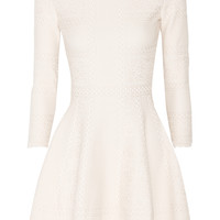 Alexander McQueen - Stretch-knit jacquard mini dress