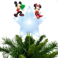 Disney Mickey Mouse and Minnie Tree Topper | Disney Store