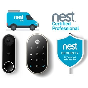 Nest Hello, Yale Lock & Security Sign Package
