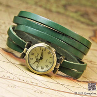 Leather Wrap Watch RJ015 by Romegrace on Etsy