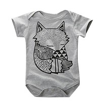 Cartoon Cotton Baby Romper Newborn Short Sleeve Baby Boy Clothes Jumpsuit Infant One Pieces Cute Clothes Overalls For Children