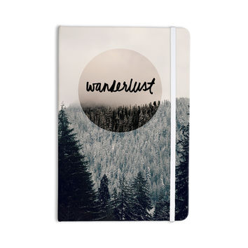 "Robin Dickinson ""Wanderlust"" Gray Black Everything Notebook"