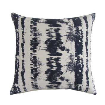 Tie-Dye Square Printed Accent Pillow Cover - Berry Blue