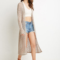 Open Knit Longline Cardigan