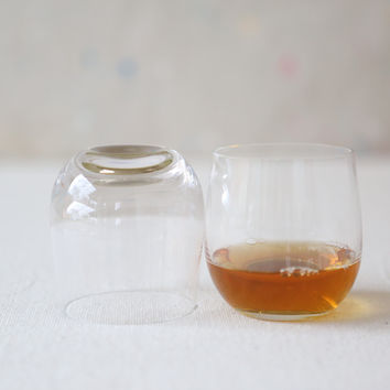 Golden Old Fashioned Glass