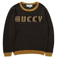 Gucci  Women or Men Fashion Casual Loose Top Sweater