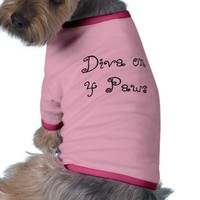 Diva on 4 Paws - pink Dog Clothing from Zazzle.com
