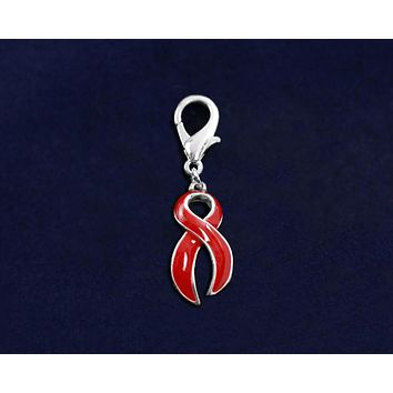 Red Ribbon Hanging Charm for Causes