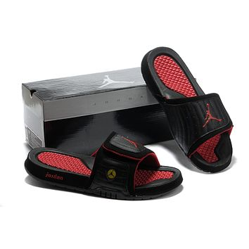 Nike Jordan Hydro Xiv Black/red Sandals Slipper Shoes Size Us 7 13 | Best Deal Online