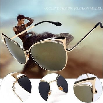 Womens Ladies Cat Eye Sunglasses Retro Classic Vintage Oversized Fashion Shades [8833469644]