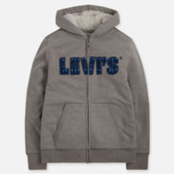 Boys' Levi's Big (8-20) Zip Front Hoodie - Grey - Kids