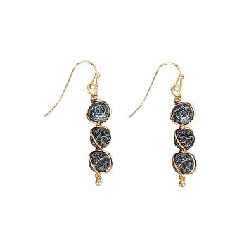Natural Stone Wired Earrings
