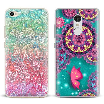 Mandala Henna Floral Flower Phone Case Shell Cover  For Xiaomi Redmi Note 4 4X 5A 6 6A PRO Mi 8 5 5S PLUS Max A1 Note 2 3