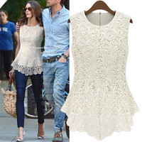 shopping2013 — Sleeveless lace blouse
