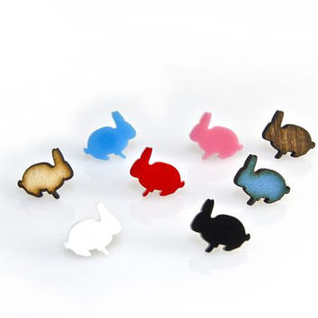 Bunny Earrings - Laser Cut - Handmade - laser cut jewelry
