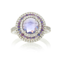 One-of-a-Kind Purple Sapphire & Diamond Ring | Moda Operandi