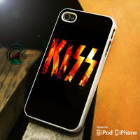 Kiss Flame iPhone 4 5 5c 6 Plus Case, Samsung Galaxy S3 S4 S5 Note 3 4 Case, iPod 4 5 Case, HtC One M7 M8 and Nexus Case