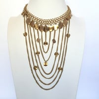 Gypsy Soul Layer Necklace Set In Gold