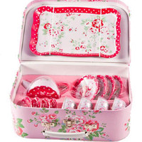 Gisela Graham 15 Piece Tin Floral Tea Set:£18.95- FREE DELIVERY at The Fabulous Gift Store