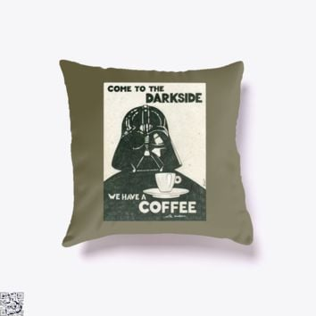 Anakin Skywalker Coffee With Cookies, Coffee Throw Pillow Cover