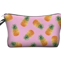 Pink Pineapples Makeup Bag