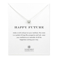 happy future origami crane necklace, sterling silver - Dogeared
