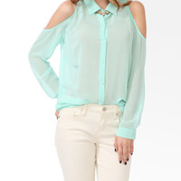 Cutout Shoulder Shirt