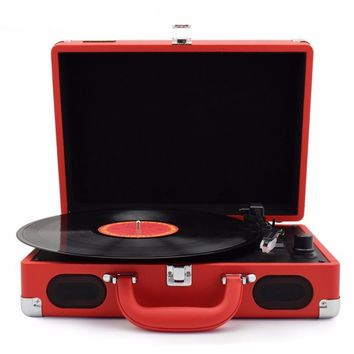 Portable Turntable Vinyl LP Record Player