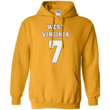 WILL GRIER WEST VIRGINIA FOOTBALL JERSEY SWEATSHIRT HOODIE