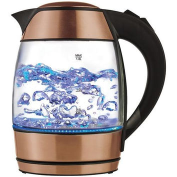 BRENTWOOD KT-1960RG 1.8-Liter Electric Glass Kettle with Tea Infuser